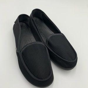 Crocs Santa Cruz Mesh Loafers Blk Comfy Moc Toe